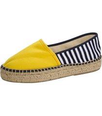 espadrillos klingel gul::marinblå::vit