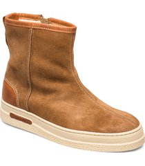 maria mid zip boot shoes boots ankle boots ankle boots flat heel brun gant
