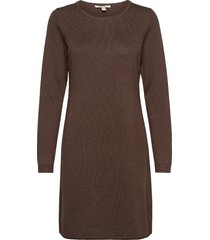 dresses flat knitted kort klänning brun edc by esprit
