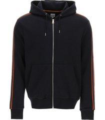 paul smith artist stripe zipped hoodie