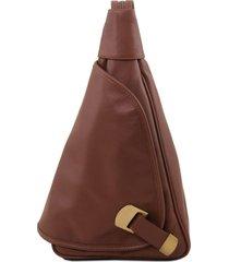 tuscany leather tl140966 hanoi - zaino in pelle morbida marrone