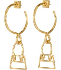 les creoles chiquita' bag charm earrings