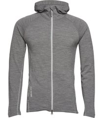 m's wooler houdi hoodie trui grijs houdini