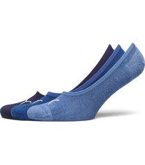 puma footie 3p unisex ankelstrumpor korta strumpor blå puma