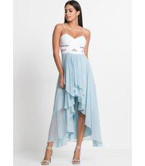 high-low jurk met hartvormige halslijn