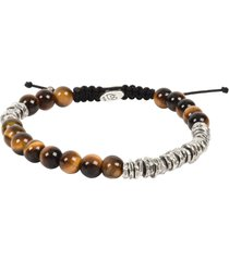 degs & sal stone bead bracelet in brwn at nordstrom