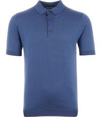 john smedley adrian polo shirt - blue iris
