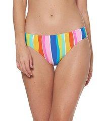 multicolor low-rise bikini bottom