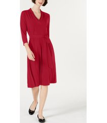 charter club petite solid midi dress, created for macy's