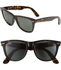 ray-ban 'classic wayfarer' 50mm sunglasses in tort gradi at nordstrom