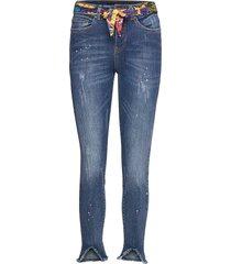 denim rainbow skinny jeans blå desigual