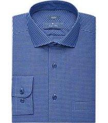 joseph abboud indigo blue indigo check dress shirt