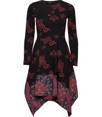 vest chicago jurk knielengte rood desigual