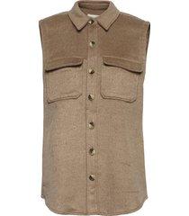 objvera owen s/l vest a div vests knitted vests bruin object
