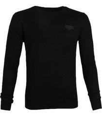 antony morato pullover mmsw00805-ya500002 zwart