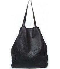 duża czarna skórzana torba na ramię