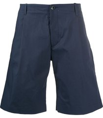 nine in the morning flared chino shorts - blue