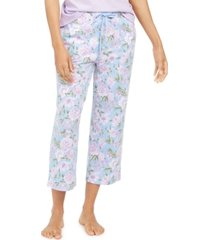 charter club cotton printed cropped pajama pants, created for macy's