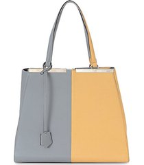 3jours colorblock leather tote