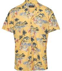 david bowling shirt overhemd met korte mouwen geel morris