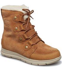 sorel™ explorer joan shoes boots ankle boots ankle boot - flat brun sorel
