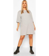 plus drop armhole t-shirt dress, grey marl