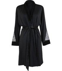 pyjama's / nachthemden lisca koninklijke wens zwart negligee