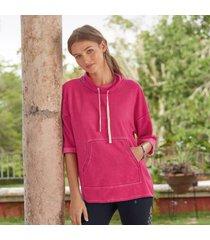sundance catalog women's kinsley sweatshirt in punch xs