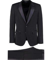 dolce & gabbana martini three-piece wool suit
