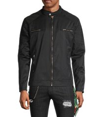 rnt23 men's moto-panel zip jacket - khaki - size s
