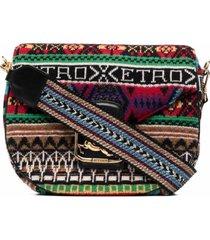 etro pegaso multicolor crossbody bag in wool blend