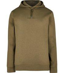 river island mens khaki rvr embossed slim fit hoodie