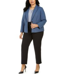le suit plus size basket weave pantsuit