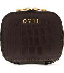 0711 small ela cosmetic bag - brown