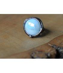 pierścionek perłowe szkło
