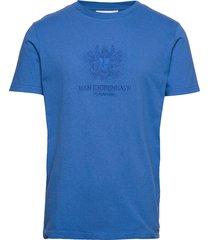 artwork tee t-shirts short-sleeved blå han kjøbenhavn