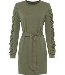 abito in felpa con cintura (verde) - bodyflirt