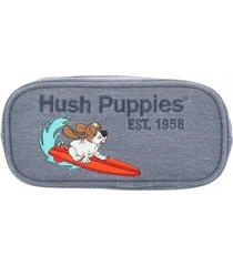 estuche pencilcase azul hush puppies