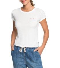 women's roxy frozen day t-shirt, size x-large regular - white