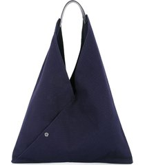 cabas n39 triangle tote - blue