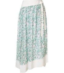 3.1 phillip lim printed shirred skirt - white