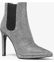 stivaletto brielle in mesh metallico glitterato