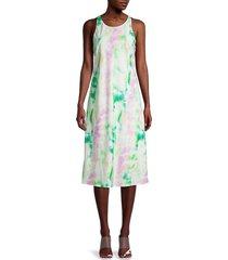 amanda uprichard women's pasadena tie-dye dress - white multi - size l