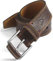 men's trask 'gallatin' belt, size 32 - bourbon bison