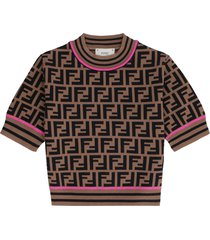fendi ff motif pullover