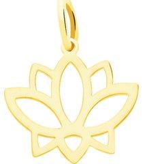 ciondolo fiore di loto in oro giallo per donna