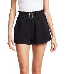 auburn buckle crepe shorts