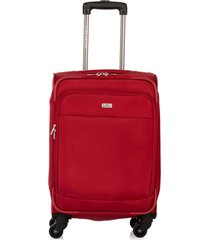 maleta de viaje pequeña en lona con cuatro ruedas giratorias 94872