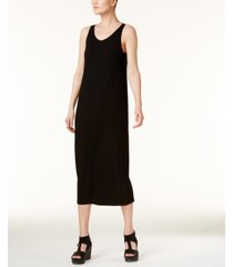 eileen fisher system stretch jersey scoop-neck midi dress, regular & petite