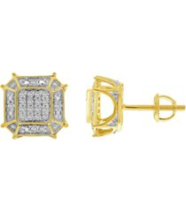 men's diamond (1/6 ct.t.w.) earring in 10k yellow gold